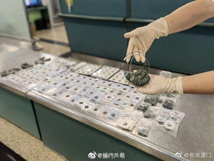厦门海关查获古钱币1431枚
