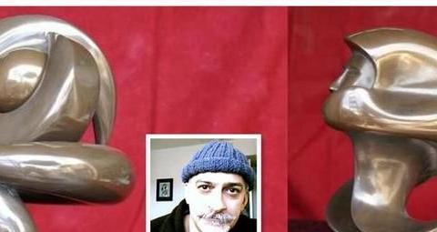 艺术家卡扎里安的冷铸雕塑作品