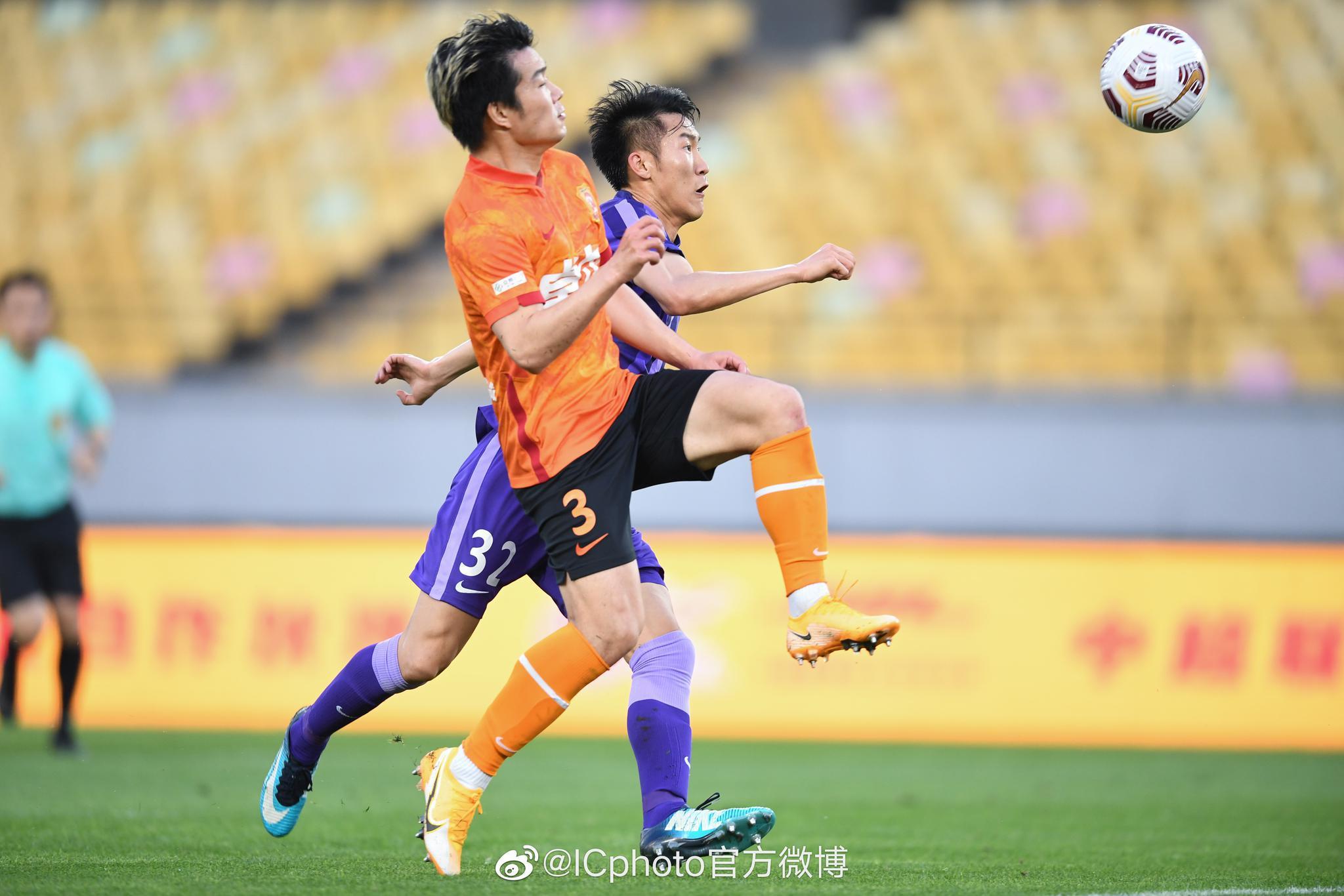 2021中超联赛第5轮 杨梓豪职业生涯第一球!