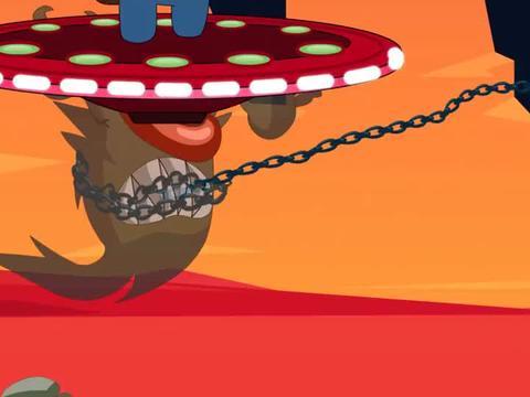 游戏动画:戴夫协助太空人袭击怪物