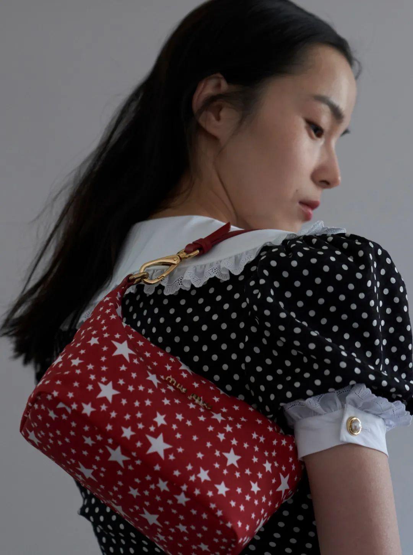 Miu  Miu印花织物手袋