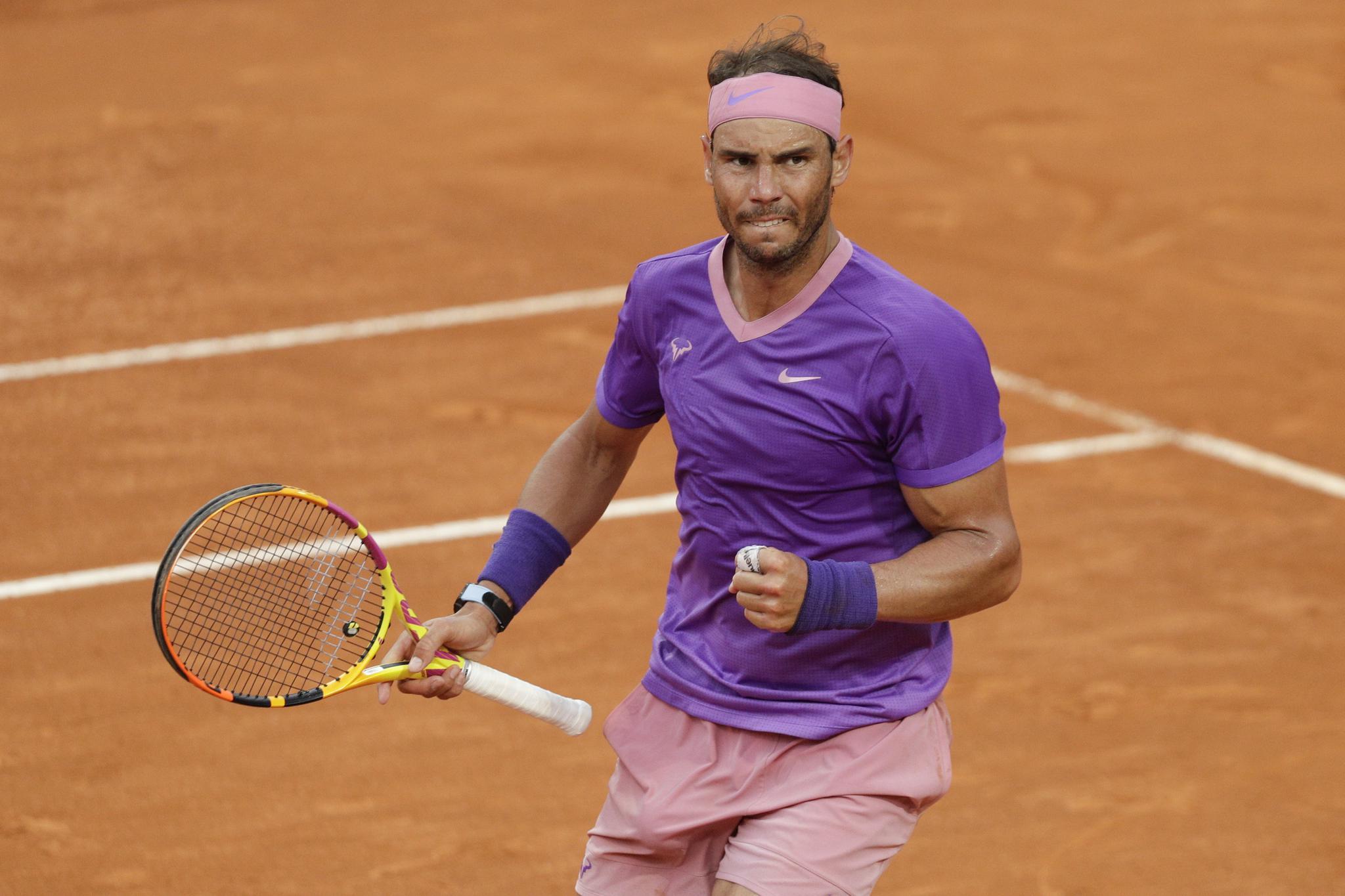网球——意大利公开赛:纳达尔夺得男单冠军