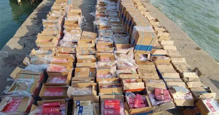 广西海警连续查获两起涉嫌走私香烟案 案值约430万元