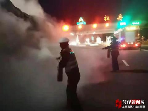 货车轮胎起火,险酿百万元损失