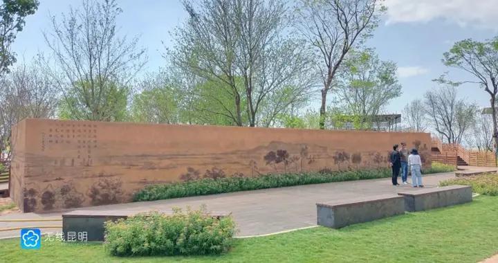 官渡区宝丰半岛湿地(一期)预计6月30号前完工
