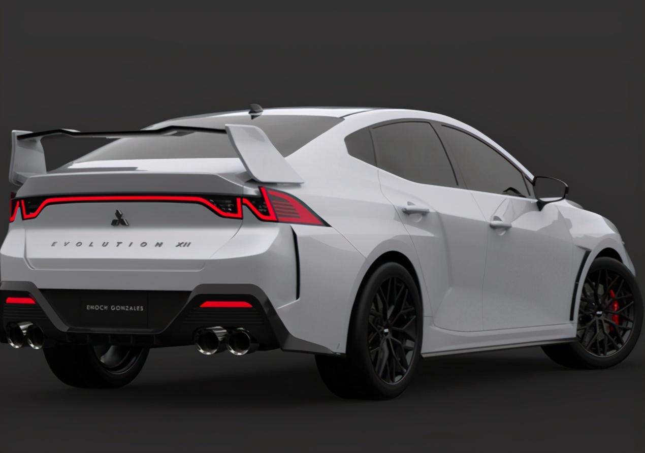 三菱新一代EVO曝光,2.0T引擎+大尾翼+激光大灯,加速更凌厉!