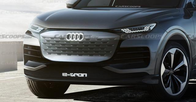 对标特斯拉Model X!奥迪Q6 E-Tron渲染图曝光 2022年下半年亮相