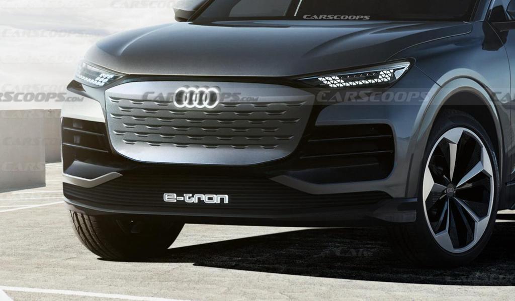 奥迪Q6 E-Tron渲染图曝光,有望明年下半年亮相