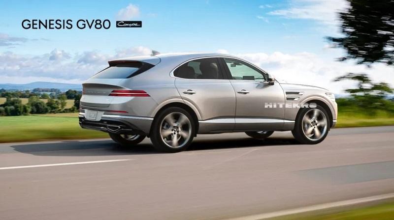 定位中大型轿跑SUV 捷尼赛思GV80 Coupe渲染图曝光