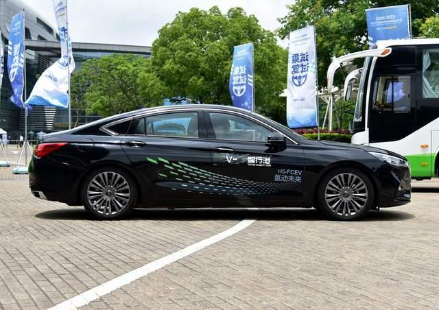 红旗H5氢燃料版实车亮相,不用烧油,不用充电,续航520公里