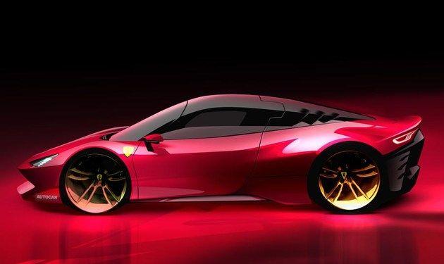 法拉利全新跑车渲染图 搭载3.0T V6插混动力/或2022年亮相