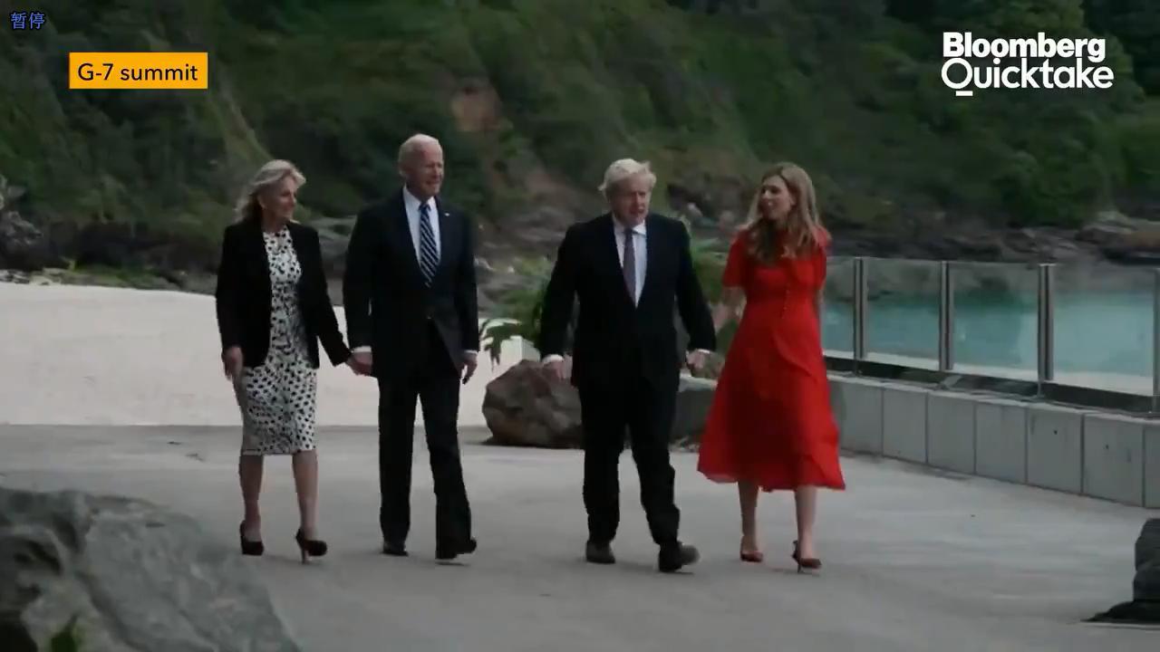 拜登与英国首相约翰逊会晤