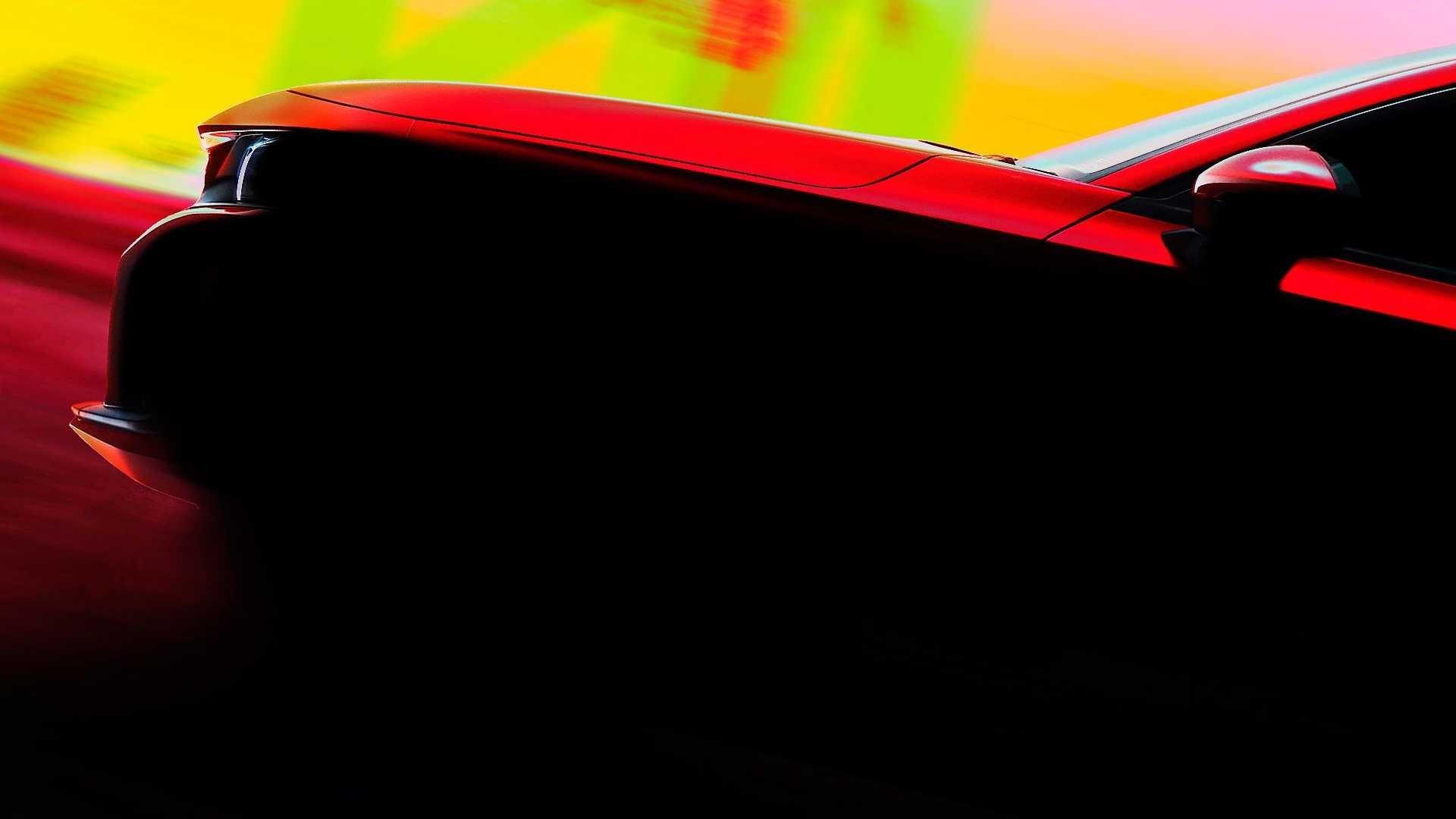 动感干练,本田发布思域HATCHBACK车型预告图