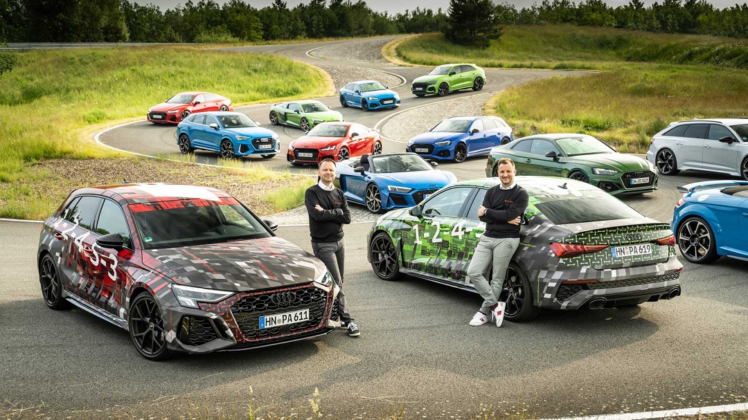 搭载2.0T直列五缸发动机 奥迪RS 3/RS 3 Sportback预告图发布