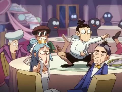 刺客伍六七:伍六七在别人婚宴剪了新郎的头发,礼仪都看懵圈了!