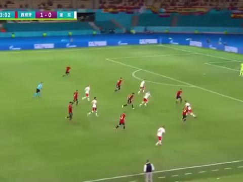 欧洲杯 西班牙1-1波兰 莱万头槌救主,西班牙难取一胜