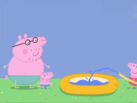小猪佩奇:乔治看到恐龙雪糕,不舍得吃,结果化成了水