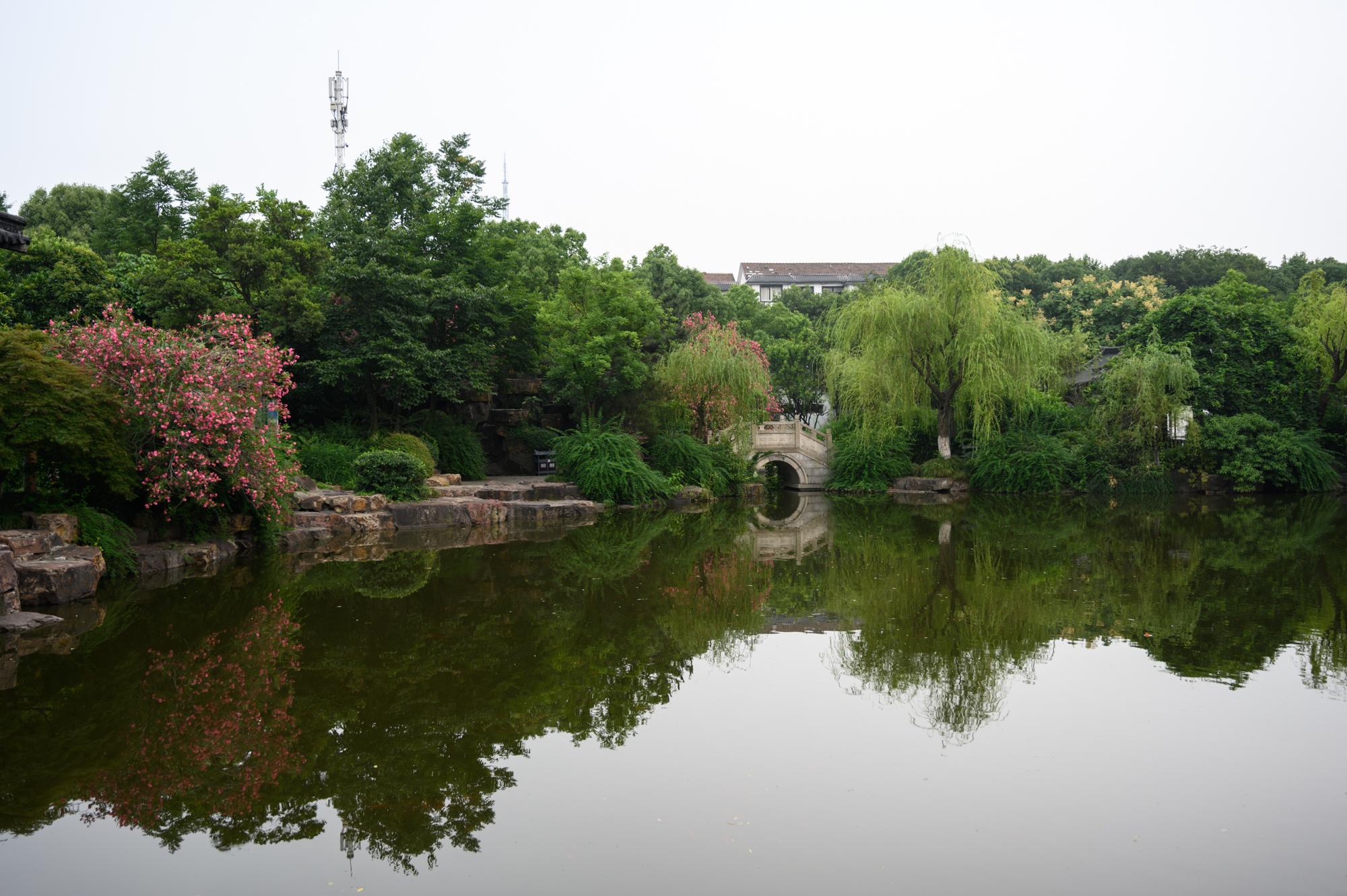江阴兴国园,隐于闹市区的一处公园,犹如一座