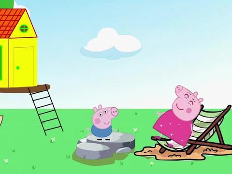 乔治假装生病不想去上学,猪妈妈一句话乔治就跑了