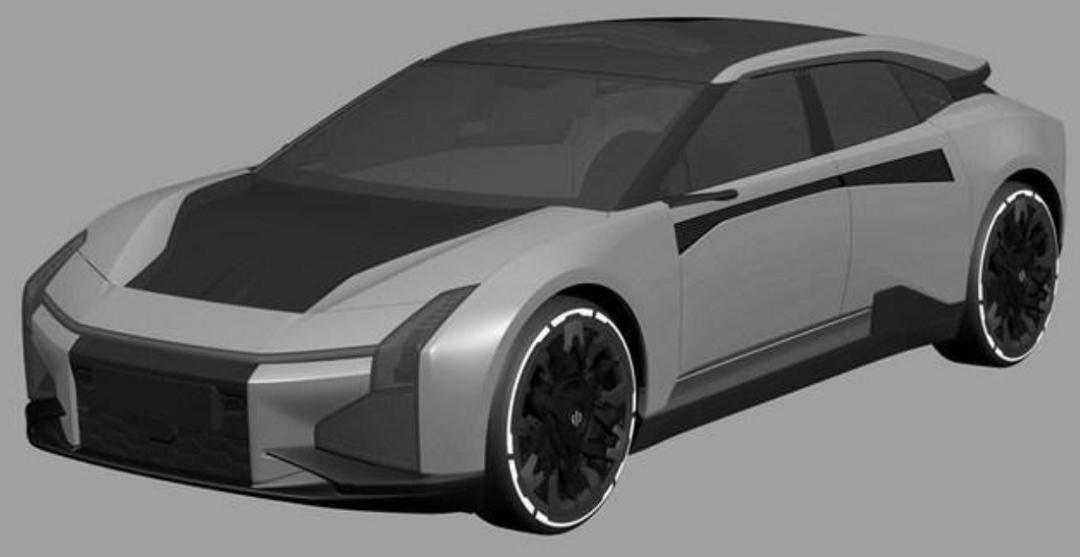 轿跑造型 视觉效果更加激进 高合HiPhi最新车型专利图曝光