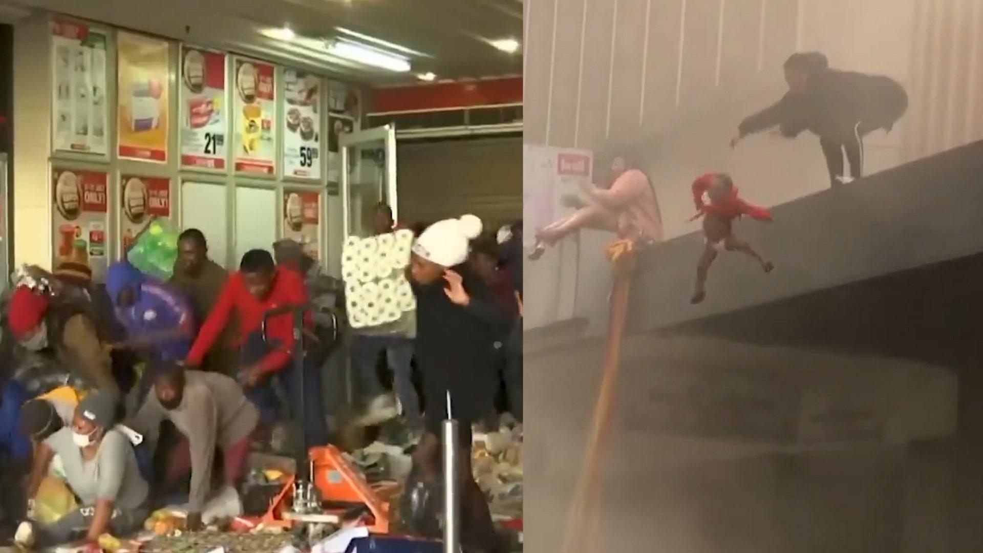 南非骚乱民众洗劫超市焚烧:女子被迫火海扔出女儿,警察束手无策