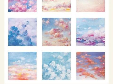 太浪漫了,她用水粉画风景和天空,糖果色彩让人沉醉