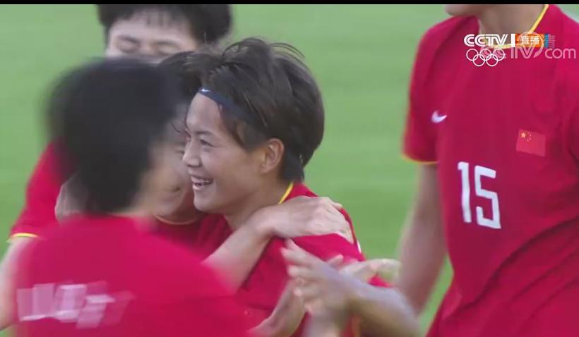 王霜进球了!中国女足打入本届奥运会首球图片