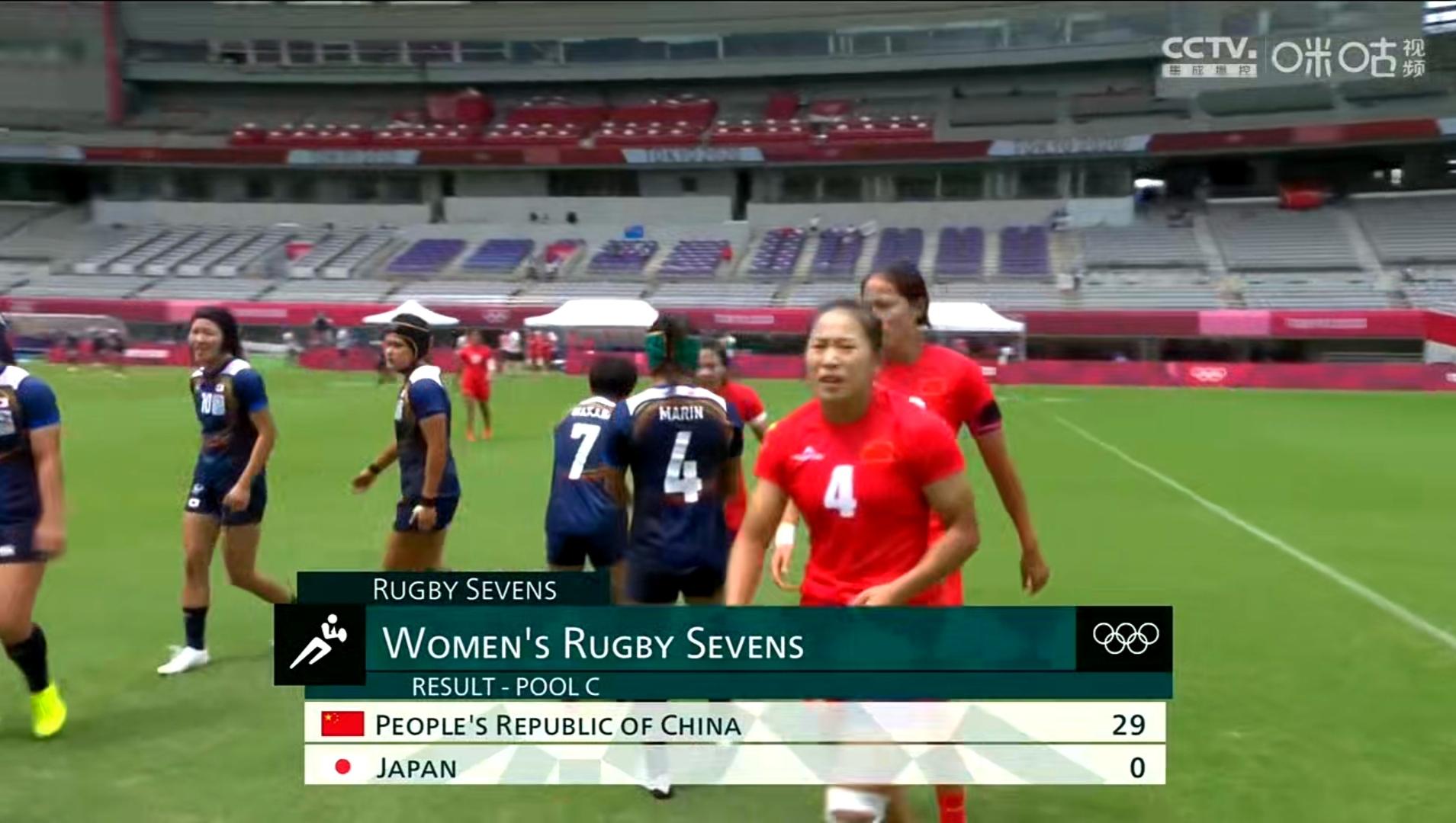 大胜日本 中国女子橄榄球队赢得出线生死战图片