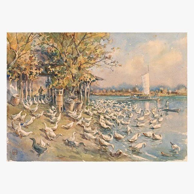 20世纪经典老水彩拍卖专场,74件水彩大家之作,首度呈献