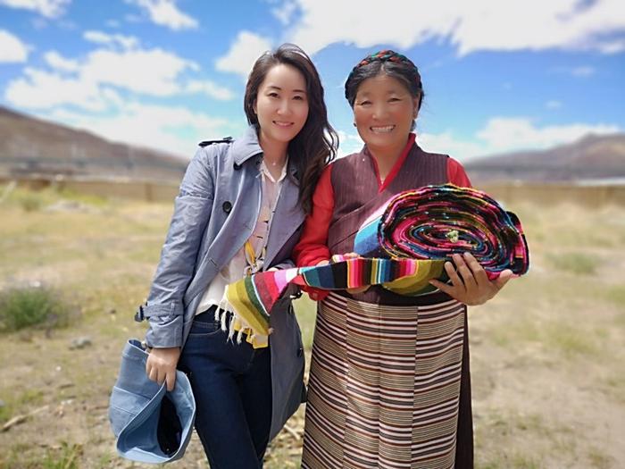 到了西藏,我叫德吉玉珍,你呢?