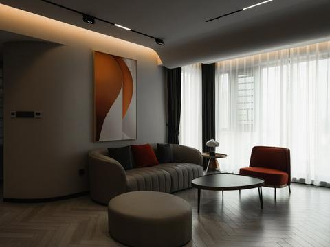 张林作品:素简的撞色私宅,木色与冷色相互调和,神秘感呼之欲出