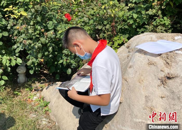9月1日,北京140万中小学生开学。图为北京十一学校丰台小学学生在菜园进行实践活动。 徐婧 摄