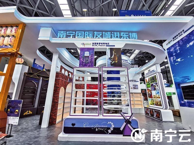 南宁国际友城展区主体已完工。
