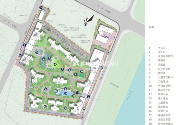 住宅小区景观设计案例 建科园林景观设计