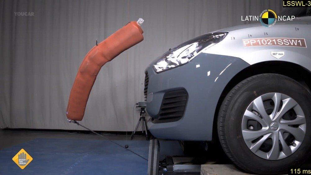 视频:2021款铃木Swift碰撞测试,A柱还可以,但是成绩稀碎......