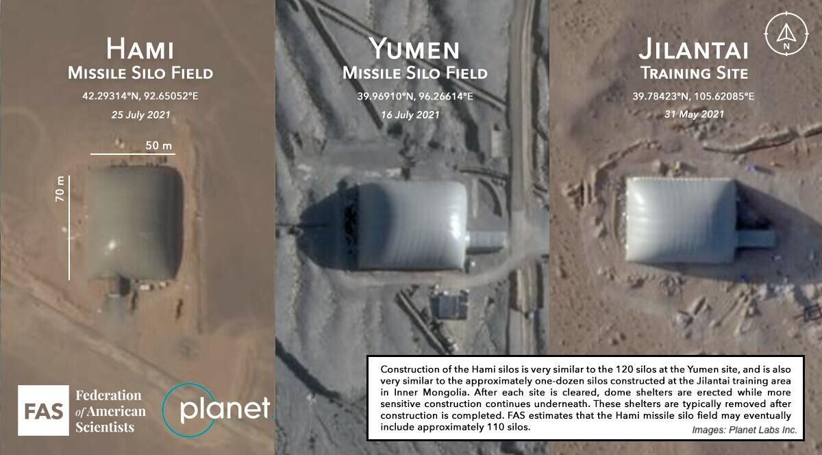 """美国专家分析称,这些""""导弹发射井""""的建造模式类似 图源:社交媒体"""