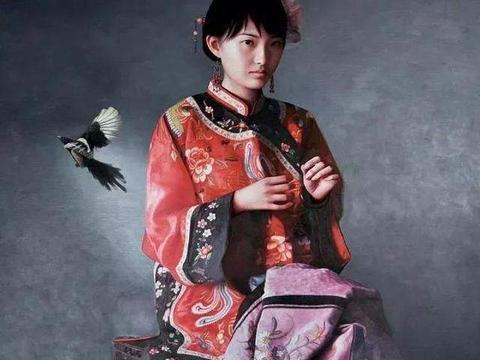 青年艺术家写实油画中的少女,也太美了吧
