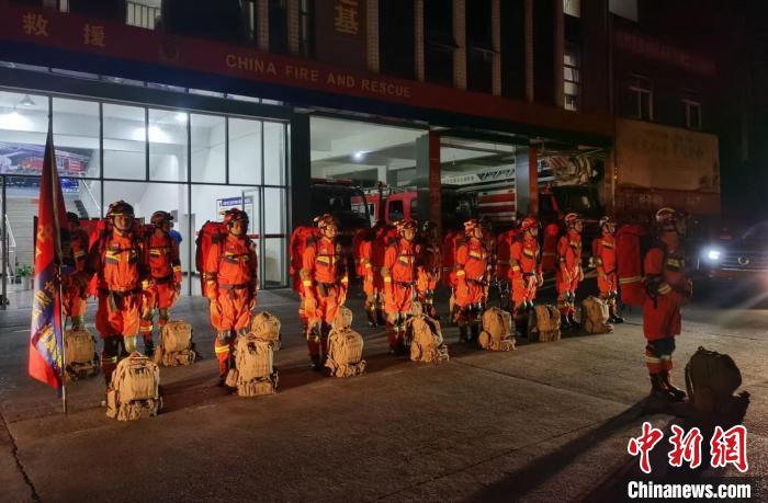 地震救援队伍紧急集结。 四川消防供图