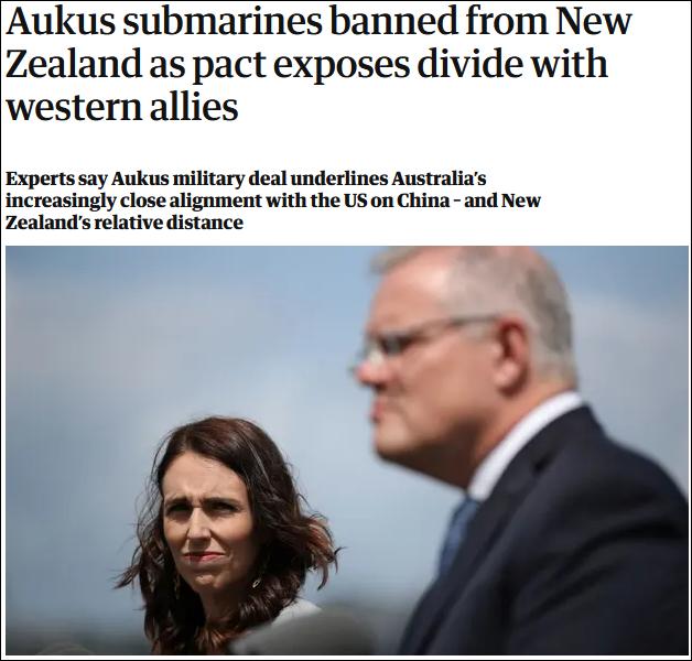 澳大利亚要造核潜艇,新西兰总理:别来我这