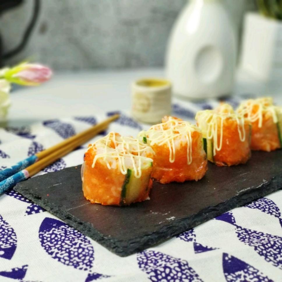 一口两世界!越南春卷鱼籽酱寿司,好吃好看太有食欲了