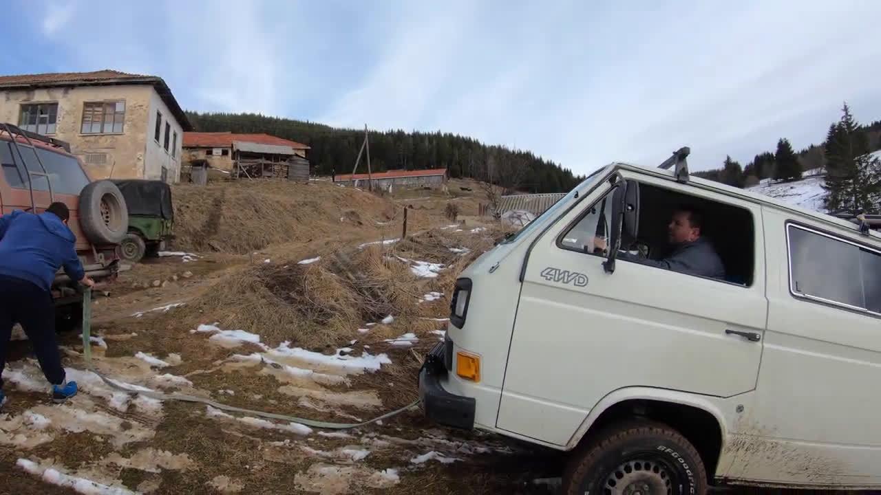 老舅大众T3四驱版德国乡村冰雪体验……