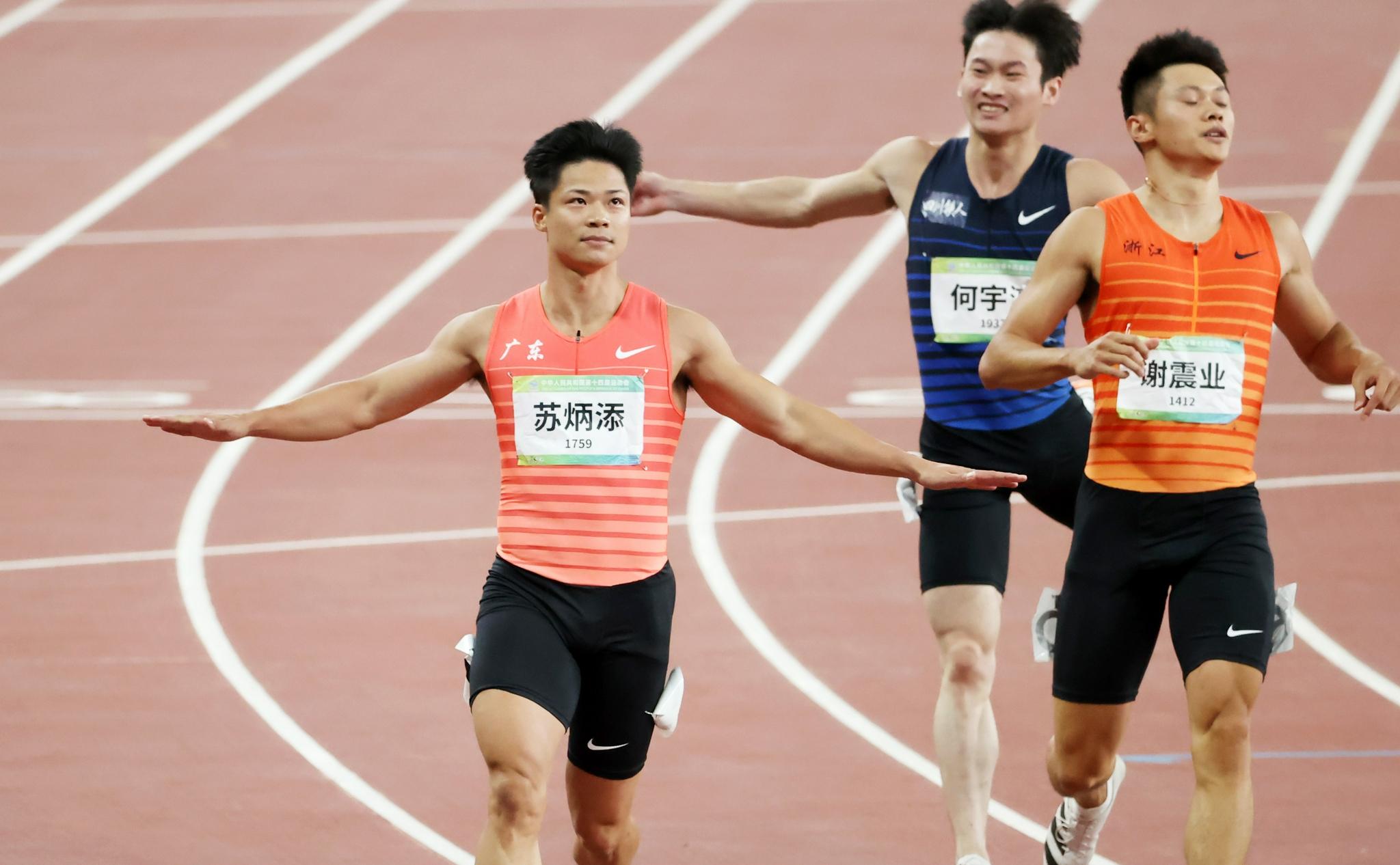 9秒95!中秋之夜,苏炳添和全运会百米金牌团圆了