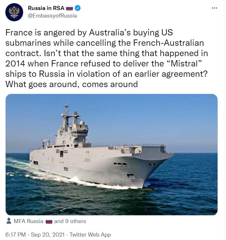 法国又被俄罗斯讽刺了……