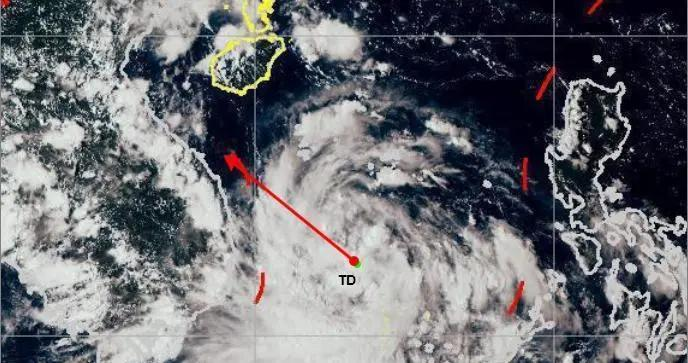 南海热带低压已生成 24日趋向越南中北部沿海地区