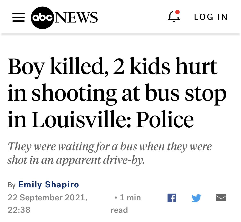 突发!美国肯塔基州发生枪击事件,一名少年死亡