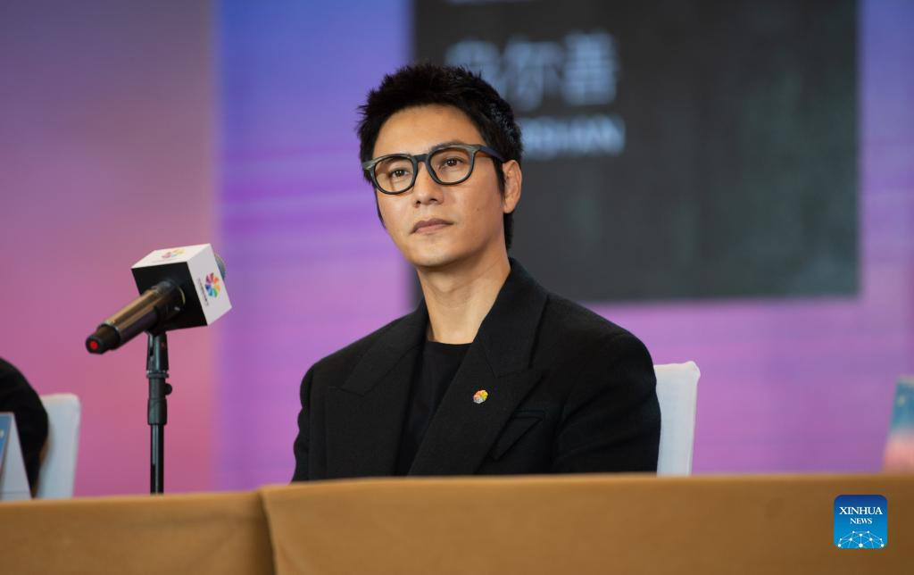 The Tiantan Awards jury member Chen Kun is seen at the press conference during the 11th Beijing International Film Festival in Beijing, capital of China, Sept. 21, 2021. The 11th Beijing International Film Festival runs from Sept. 21 to 29, with nearly 300 films to be screened, according to the organizers. (Xinhua/Chen Zhonghao)