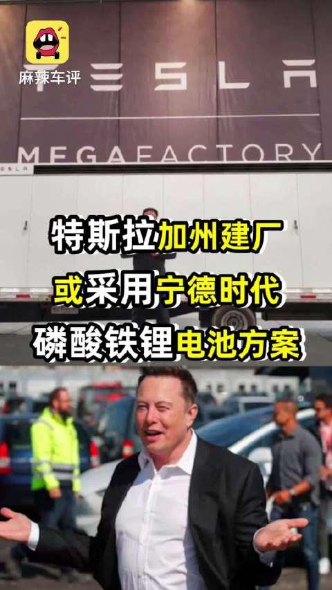 特斯拉在加州建厂,或采用宁德时代磷酸铁锂电池方案