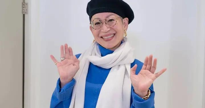 68岁的韩国奶奶,嘴大、身材瘦还一头白发,却靠穿搭成为时尚标杆