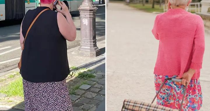 巴黎街头6、70岁老太太多优雅?穿花裙染粉色头发,时尚又可爱
