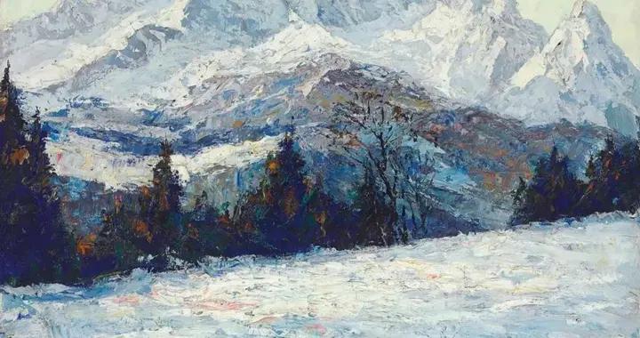 德国印象派画家奥托·皮佩尔风景、人物油画作品欣赏